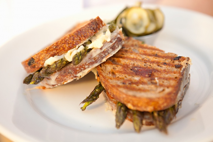 Asparagus Grilled Cheese Recipe — Dishmaps