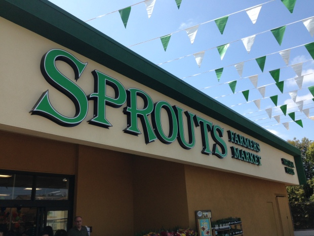 sprouts outside