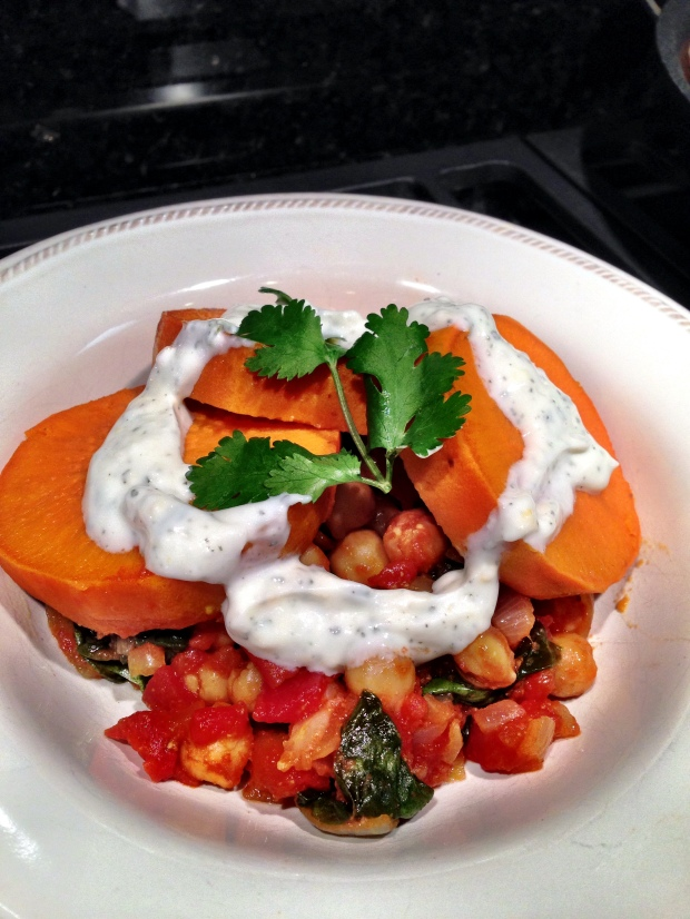 chickpea and sweet potato