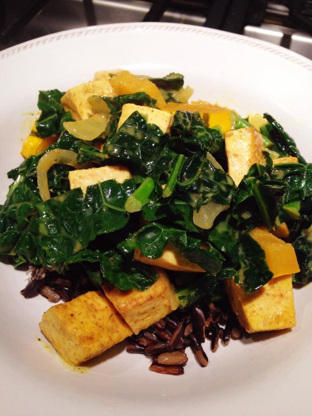 delicata sqush and tofu curry